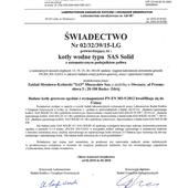 Sas solid certyfikat